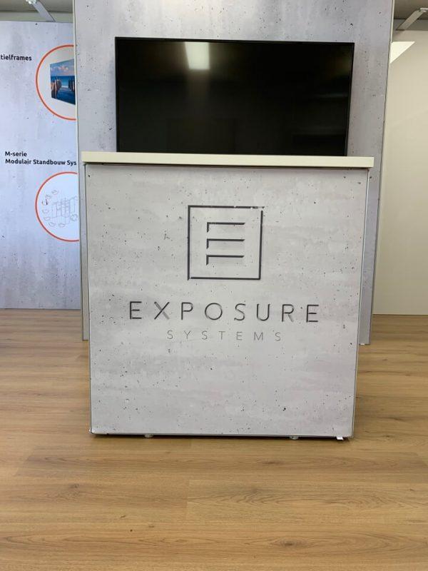 Modulaire standbouw Exposure televisie beursstand